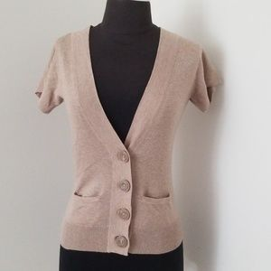 Kaisely Brown Size Small Cotton Cardigan